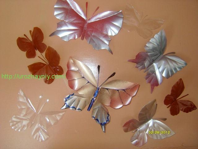 Бабочка из пластиковых бутылок своими руками мастер класс фото 19
