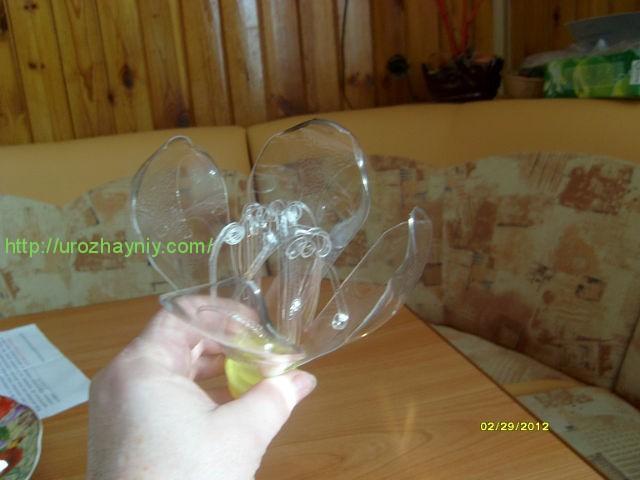 Клематис из пластиковых бутылок