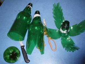 Делаем пальму из пластиковых бутылок