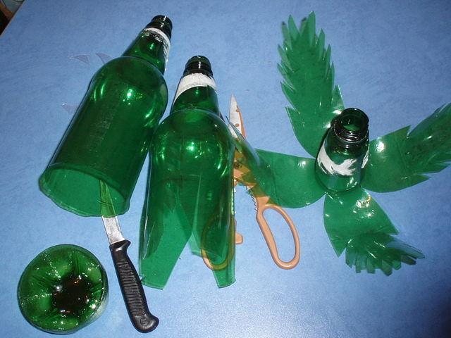 Поделка из пластиковых бутылок своими руками пальма
