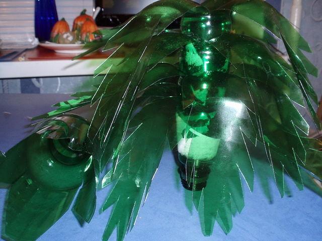 Пальма из пластиковых бутылок пошаговое