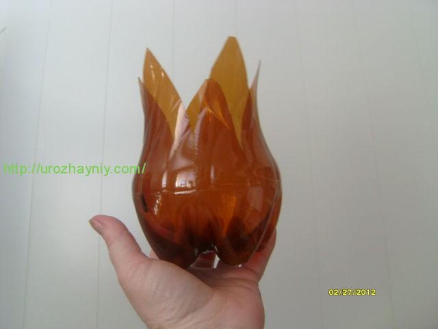 Тюльпаны из бутылок пластиковых своими руками