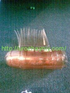 Журавль из пластиковых бутылок