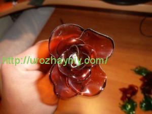 Роза из пластиковой бутылки