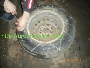 клумбы из резиновых колес