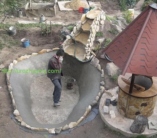 Как сделать дома водопад своими руками видео
