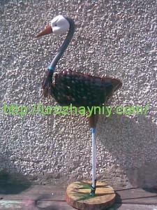 садовая фигура журавль
