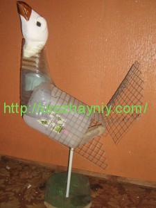 Птицы из пластиковых бутылок