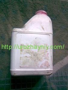 Аист из пластиковых бутылок