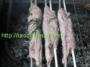 Свиная вырезка на углях
