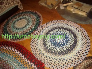Как сделать коврик из косичек