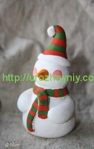 Снеговик из глины