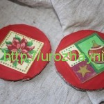 Елочные игрушки из картона