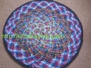 техника плетения круглого коврика