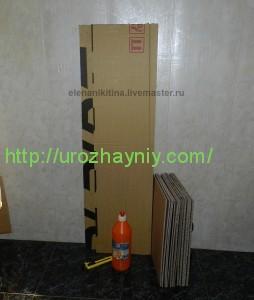 Высокий комод из картона