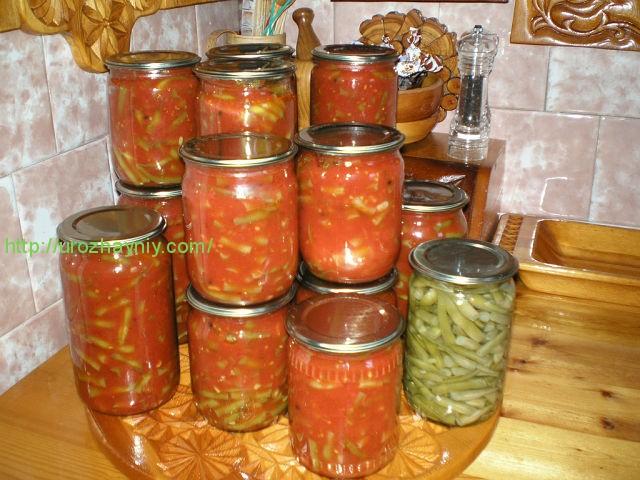 фасоль с томатной заправкой