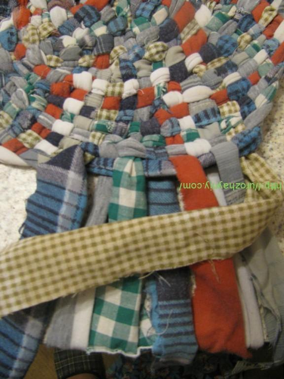 Из чего связать коврик может из ленточек