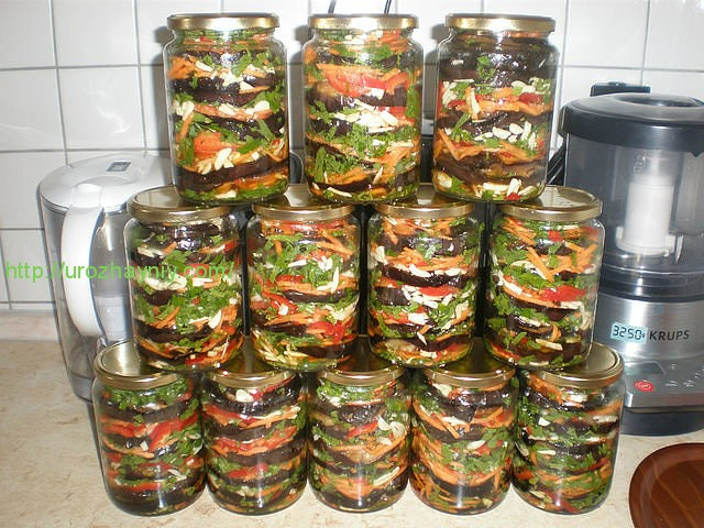 заготовка из баклажан на зиму рецепты с фото