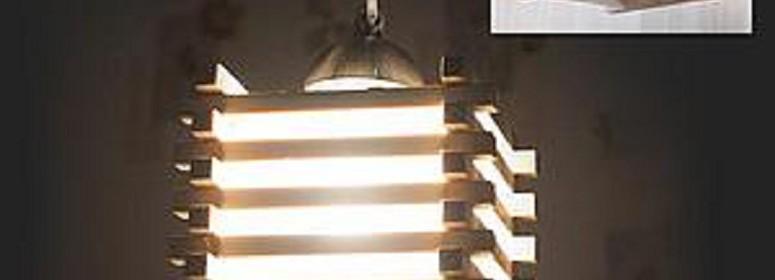 деревянный светильник своими руками