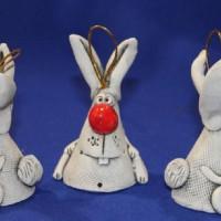 Заяц из глины