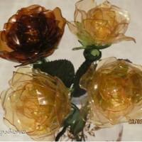 Как сделать розу из пластиковых бутылок