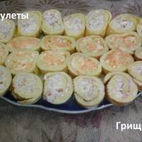 Яичные рулеты с начинкой
