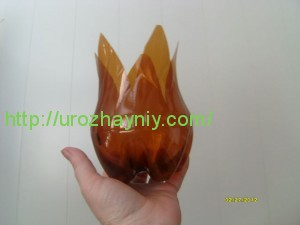Тюльпаны из пластиковых бутылок