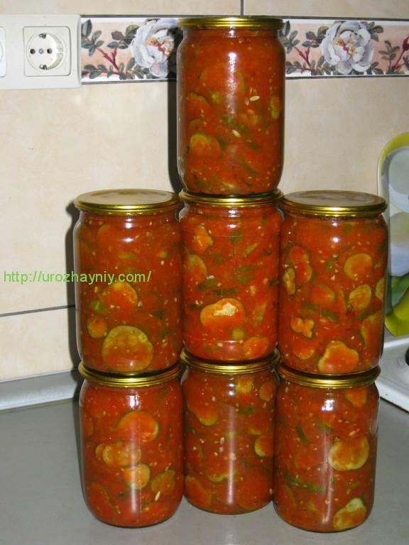 заготовки-огурцы в томатном соусе