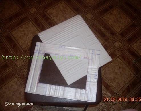 Фоторамка своими руками из потолочной плитки