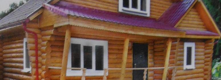 Проект дома бани из бревна