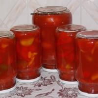 Болгарский перец в томатном соке на зиму