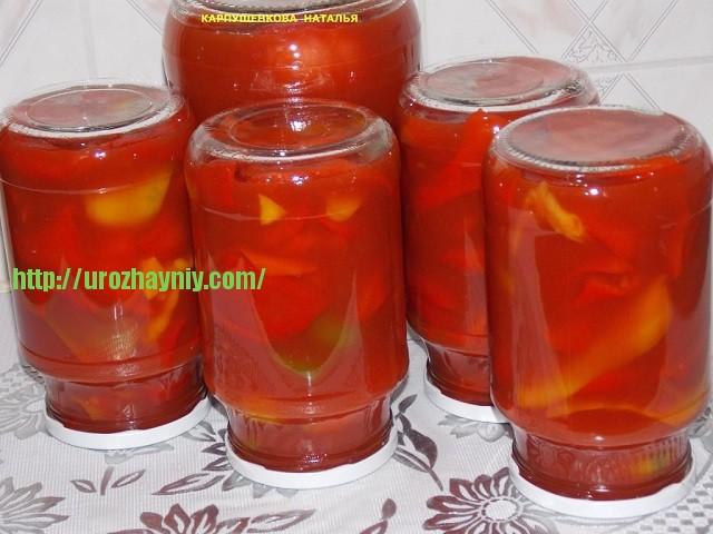 Как сделать перцы в томатном соке на зиму 54