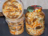 Салат с капустой и баклажанами